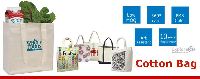 10 Years Experience Custom Reusable Promotio<em></em>nal Cotton Bag