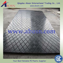 temporary road and roadway matting of 100% recycled plastics and waste materials