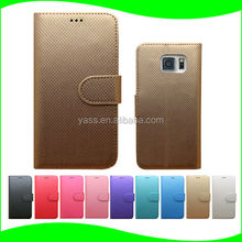 Factory Price Stand Card Holder Leather PC Case Cover for Samsung Galaxy S6