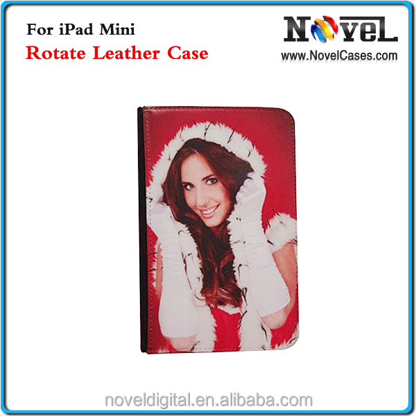 2015 New sublimation Leather Case For iPad Mini, leahter cell phone case for iPad Mini
