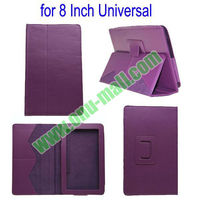 Wholesale Universal Leather Case for 8 Inch Tablet PC With Stand (Purple)