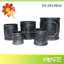 UK traditional cylinder flower planter ,fiberglass planter,planter pot