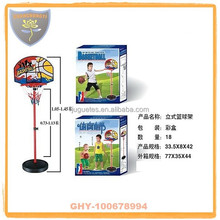 Children plastic basketball stands with hoop and safety certificate