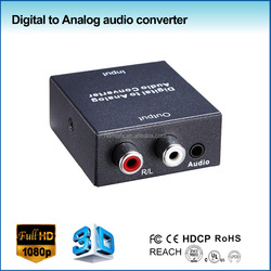 mini digital audio to analog audio converter support Coaxial or Toslink digital audio signals converted to analog L/R audio