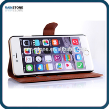 High quality wallet leather case for Apple iphone 6 plus