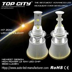 used cars for sale in germany Non-polarity automotive lighting system h7 led headlight with aluminium cooler