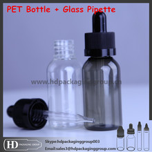 HD Boston round color glass eliquid bottle plastic colors screw cap matt rubber sharp dropper