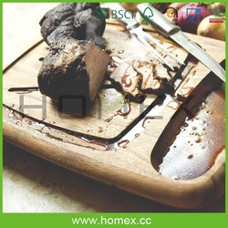 Acacia Wood Carving Cutting Board/Meat Chopping Board/Homex_FSC/BSCI