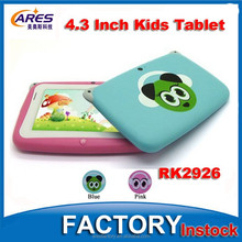 "Cheap Small Size 4.3"" Inch Capacitive Touch Screen 512MB 4GB Android 4.4 OS Kids Tablet PC"
