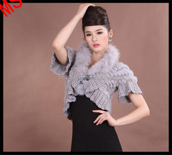 Women's Clothing Fashion Fur Dress Knitted White Rabbit Fur Coats 2015 Girl and Animals Sex