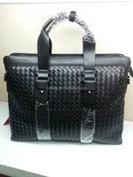 Men's woven leather message bags black online shop Italian
