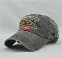 Hot Washed Cowboy Applique Embroidery Unique Hat