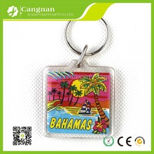 Manufacture cheap wholesale custom blank clear plastic acrylic keychain for promotional
