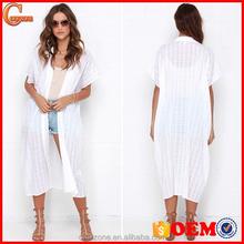 100% Cotton unlined collared neck dolman sleeves kimono