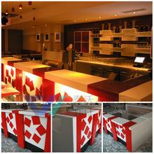 Top manufacturer for glow bar furniture led modern bar counter