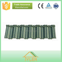 Shingle colorful stone coated roof tile green building