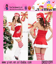 Europe Hot Sale Sexy Cotton Dress Wholesale Wrapped Chest One Piece Fashion Women Christmas Dresses