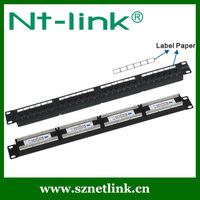 110 IDC 24 port utp cat.5e patch panel with label