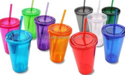 hot sell double straw cup