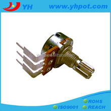 jiangsu 16mm mono single unit 10k rotary potentiometer with wash and nut