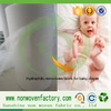 Water absorbing material spunbonded nonwoven fabric for diaper