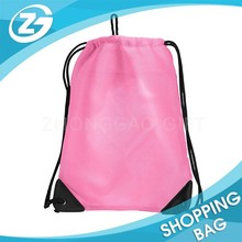 Recycled Personalised Non Woven/210D/Nylon School Bag Backpack Travel or Sports Backpack Bag Pink Drawstring Girls Backpack Bag