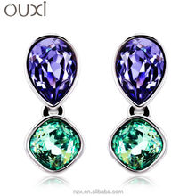 ouxi custom wholesale Rhodium plated fashion earring 20123