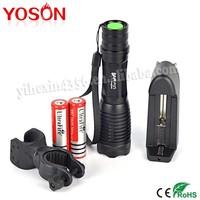 10set/Lot 1pcs 18650 / 3pcs AAA Zoom Flashlight CREE LED