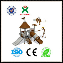 Hot sell custom playground equipment/outdoor play for children/small outdoor playsets/QX-11047E