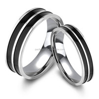 pt950 platinum filled silver couple ring