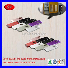 High quality ISO/ROHS passed oxidation color aluminum cellphone shell,precision cnc milling aluminum case