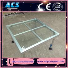 ACS aluminium frame acrylic platform stage, aluminium mobile plexiglass stage