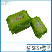 2015 Anti-bacterial spunlace OEM baby wet tissue