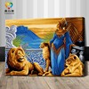 wholesale digital painting women and animal sex painting sex animal women on canvas