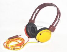 Cheap in ear high end 3.5mm jack stereo headset colorful