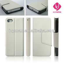 Hottest 2012 for iphone 5 case leather case