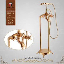 Chinese golden delta freestanding bath and shower mixer taps faucet