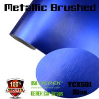 Derek self adhesive chrome brushed metallic vinyl wrap for car decoration