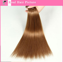 2015 U-tip/Nail Human Hair Silky Straight Extention Pre-bonded Hair Extension