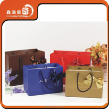 Top grade promotional shopping recycle women cloth paper bag