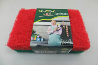 The most popular Different color househole kitchen cleaning Thick Scouring pad in packed