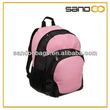 Girl pink strong backpacks bags for students, pink school backpack