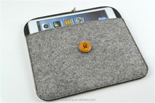 Wholesale gray felt bag for iPad mini with elastic belt