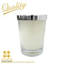 aluminum cover luxury burner crystal candle jars