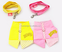 Cute cloth pattern dot harness vest for dog