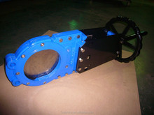 Bidirectional knife gate valve with worm gear or pneumatic operated