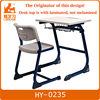 MDF wooden classroom single desk and chair