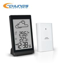 Automatic wireless weather forecast station clock