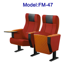 FM-47 Modern folding upholstery seat for church with table hot sale