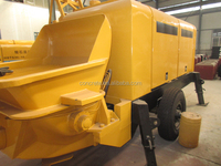 superior materials welding machine trailer mounted concrete pump HBTS60-13-90 made in China